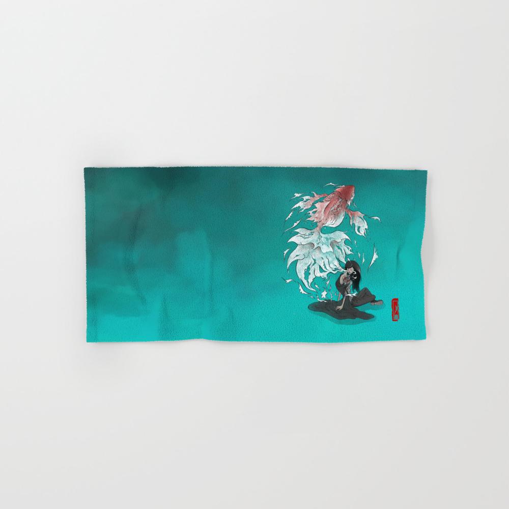 Carp Tattoo Hand Towel by Alex_lu BTL8538628