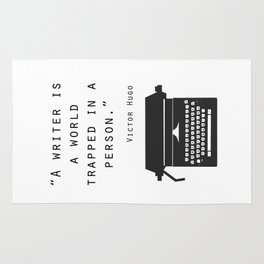 A Writer Is A World Trapped In A Person Rug
