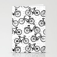 bikes Stationery Cards featuring Bikes by sarknoem