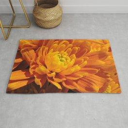 Orange Chrysanthemum Rug