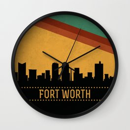 Fort Worth Skyline Wall Clock