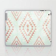 mint & coral tribal pattern Laptop & iPad Skin