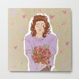 Flower Power - Purple Metal Print