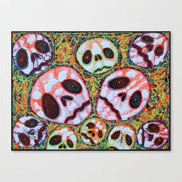 Web of Skulls Canvas Print