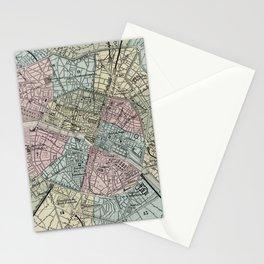 Vintage Map of Paris France (1869) Stationery Cards