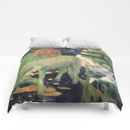 The White Horse by Paul Gauguin Comforters