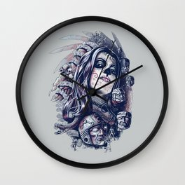 Coyolxauhqui Wall Clock