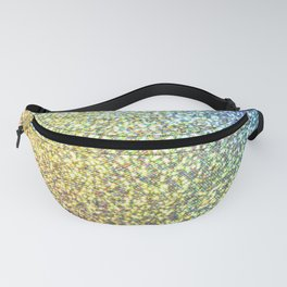 Blue & Gold Glitter Ombre Fanny Pack