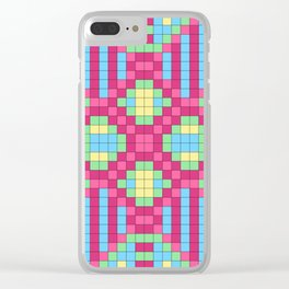 Checkerboard Squares Abstract Clear iPhone Case