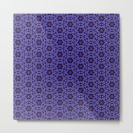 Purple Passion Pattern 14 Metal Print