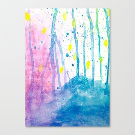 Enchanted Forest Watercolor Canvas Print