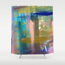 Weekend Getaway - a mixed media piece Shower Curtain