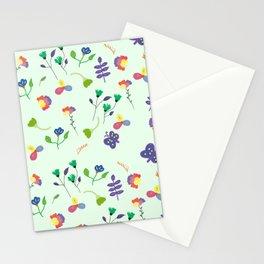 Spring Floral Pattern Stationery Cards