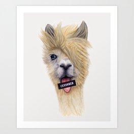Censored Llama / Llama Censurada Art Print