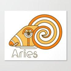 Deco Aries Canvas Print