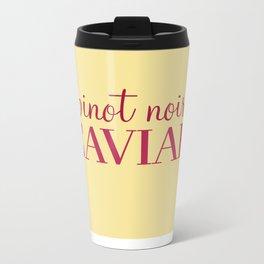 Pinot Noir, Caviar Metal Travel Mug