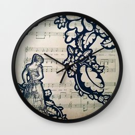 A Walk in the Garden Wall Clock