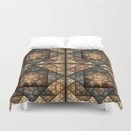 Church Window Pattern Duvet Cover