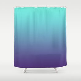 Ultra Violet Teal Ombre Gradient Pattern | Trendy color of the Year 2018 Shower Curtain