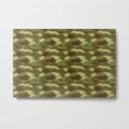 Camouflage Pattern Metal Print
