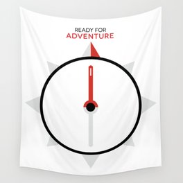 My Compass Points to Adventure Wall Tapestry