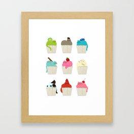 Cup-Cat Flavors Framed Art Print