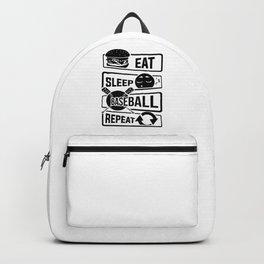 Eat Sleep Baseball Repeat - Home Run Strike Batter Backpack