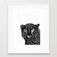 cheetah Framed Art Prints featuring Cheetah by  Steve Wade ( Swade)