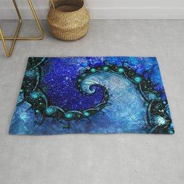 Beautiful Blue Nocturne of Scorpio Sapphire Spiral Rug