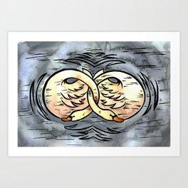 Mates for Life Art Print