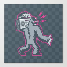 Big Foot with a Boombox Canvas Print