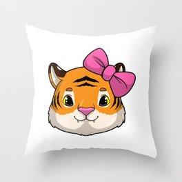 Tiger for Kids Throw Pillow