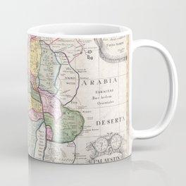 Old 1750 Historic State of Palestine Map Coffee Mug