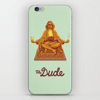 lebowski iPhone & iPod Skins featuring The Lebowski Series: The Dude by Bubblegun