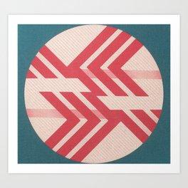 Diagonal War Art Print