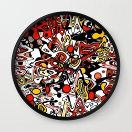 Multicolored abstract pattern. Wall Clock