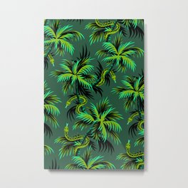 Snake Palms - Green Metal Print