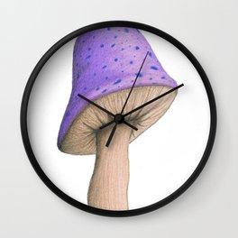 Violet Shroom Wall Clock