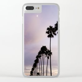 moonlight palms Clear iPhone Case