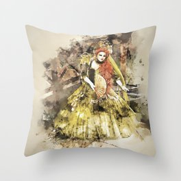 Madonna della Verde Watercolour Throw Pillow