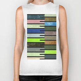 Ladder Color Blocks Complimenting Coral Biker Tank