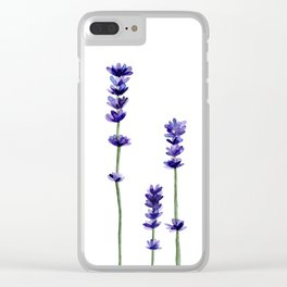 Lavender Flowers. Clear iPhone Case