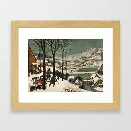 Pieter Bruegel The Elder - Hunters In The Snow, Winter Framed Art Print