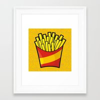 french fries Framed Art Prints featuring French Fries by Sifis