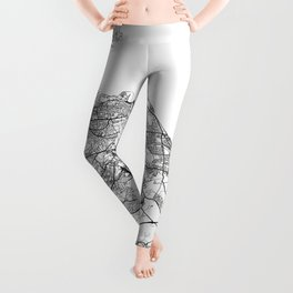 Edinburgh Map White Leggings