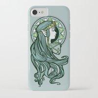 nouveau iPhone & iPod Cases featuring Zelda Nouveau by Karen Hallion Illustrations
