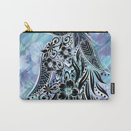 Hawaiian Tribal Floral Carry-All Pouch