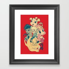 Adventure Time - Manga Take Framed Art Print