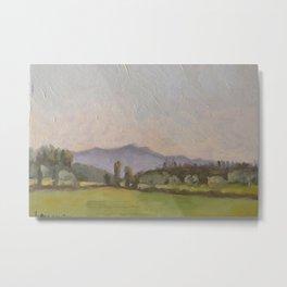 Italian Landscape Oil Painting Metal Print