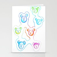 bears Stationery Cards featuring Bears by Angelz